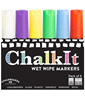 Image of Chalk It Wet Wipe Liquid Chalk Pens - Pack of 6 - Assorted - (15mm)