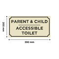 Image of Wooden Door Toilet Sign (Natural)