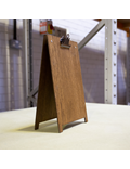 Image of A-Frame A4 Clipboard (Dark Oak with Bronze Clip)