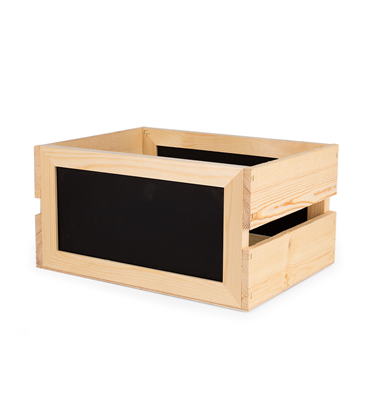Image of Rustic Slatted Crates with Chalkboard Sides