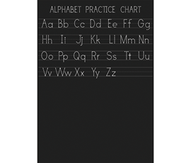 Image of Alphabet Practice Chart Chalkboard (A1)