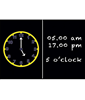 Image of Clock Blackboard (A1)