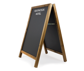 Image of Square Top A-Frame Chalkboard with Printed Header
