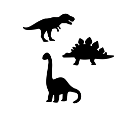 Image of Dinosaurs Shaped Chalkboards (Pack of 3)