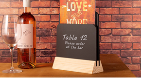 Double Sided Menu Holder (Natural)