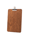 Image of Pack of A5 - Wooden Clip Boards (Dark Stain)