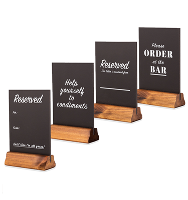 Image of Pre-printed A5 Table Top Chalkboards