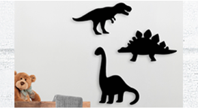 Dinosaurs Shaped Chalkboards (Pack of 3)