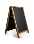 Image of 'Maximum Person's Inside' Printed A-Frame Chalkboard