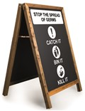 Image of 'Stop the Spread of Germs' Printed A-Frame Chalkboard