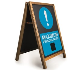 Image of Maximum persons inside Printed A-Frame Chalkboard