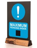 Image of 'Maximum Person's Inside' Pre-printed Table Top Chalkboard