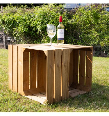 Image of Rustic Wooden Crate Table (Small)