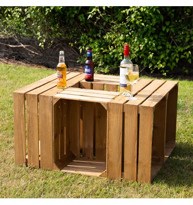 Image of Rustic Wooden Crate Table (Medium)