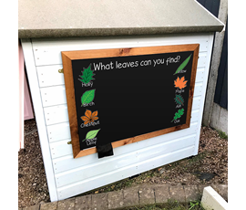 Image of Leaves - Large Kids Garden Chalkboard